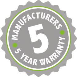 5 years manufacturers warranty, GW Energy