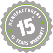 15 Years Manufacturers Warranty